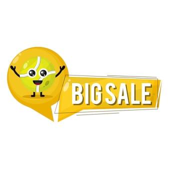 Grande vendita palla da tennis simpatico personaggio mascotte
