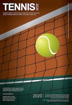 Illustrazione del manifesto di campionato di tennis