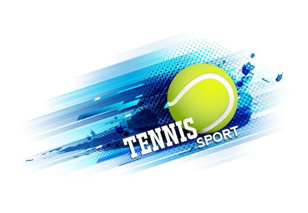 Manifesto del modello del torneo di competizione di tennis o disegno vettoriale di banner.