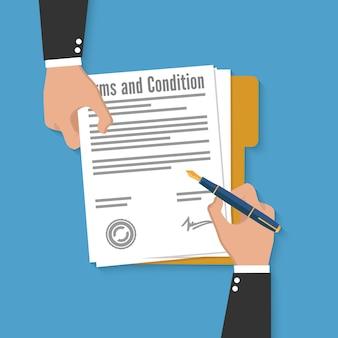 Documento di termini e condizioni