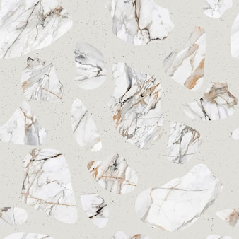 Reticolo senza giunte della pavimentazione di marmo di terrazzo. texture di un classico tipo di pavimento italiano.