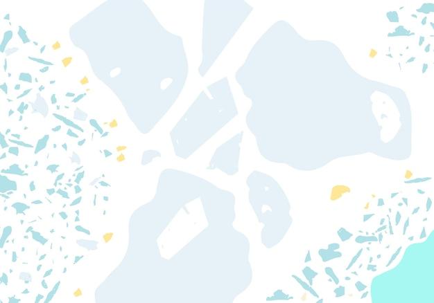Modello astratto moderno di terrazzo. struttura blu della pavimentazione italiana classica. sfondo vettoriale alla moda in terrazzo veneziano sfondo fatto di pietre, granito, quarzo, marmo, cemento.
