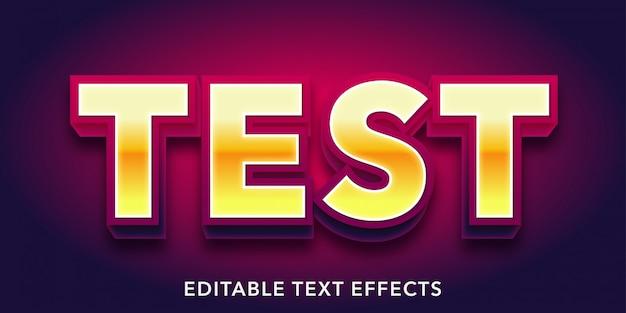 Testare effetti di testo modificabili
