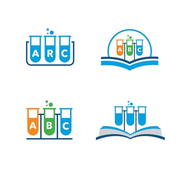 Provetta laboratorio e set chimico per test medici science lab