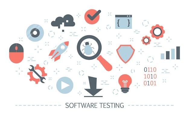 Testare il concetto di software. processo di test del codice dell'applicazione