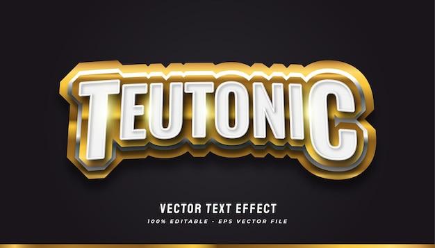 Stile di testo teutonico con effetto oro e metallico