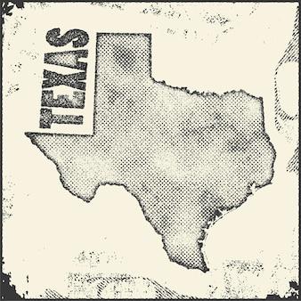 Timbro della mappa del texas.