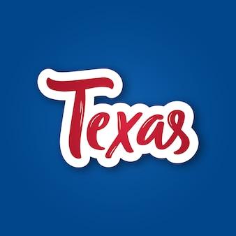 Adesivo del texas.