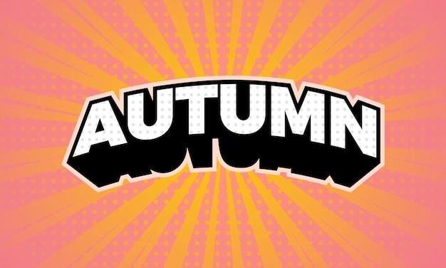 Testo autunno etichetta astratta modello di progettazione del logo