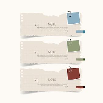 Design della casella di testo con infografica di carte da lettere