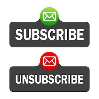 Casella di testo e modello del pulsante iscriviti con l'icona della campana di notifica.