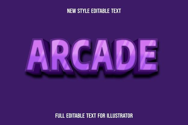 Effetto testo 3d arcade colore rosa e sfumatura rosa scuro