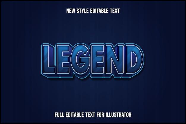 .effetto testo 3d legenda colore gradiente blu