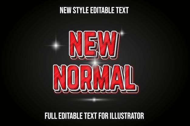 Effetto testo 3d nuovo colore normale rosso e bianco sfumato
