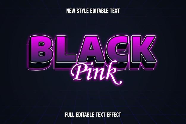 Testo effetto nero rosa su sfumatura rosa e nero