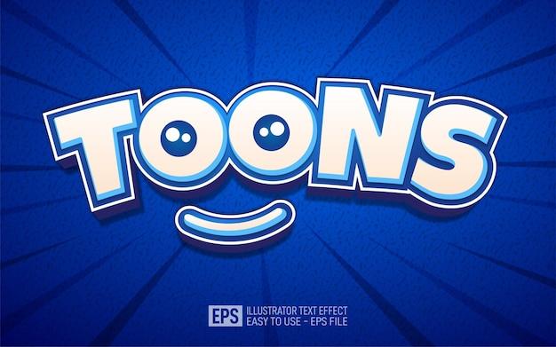 Toons fumetti effetto testo, modello di effetto stile modificabile