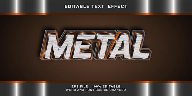 Metallo modificabile effetto testo
