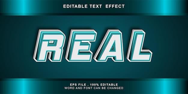Effetto testo modificabile reale
