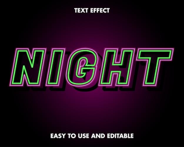 Effetto testo - effetto testo notte al neon.