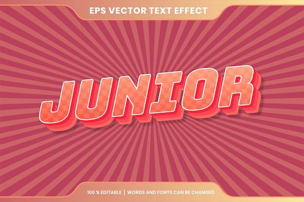 Testo effetto in colori pastello junior parole testo effetto tema modificabile retrò concetto