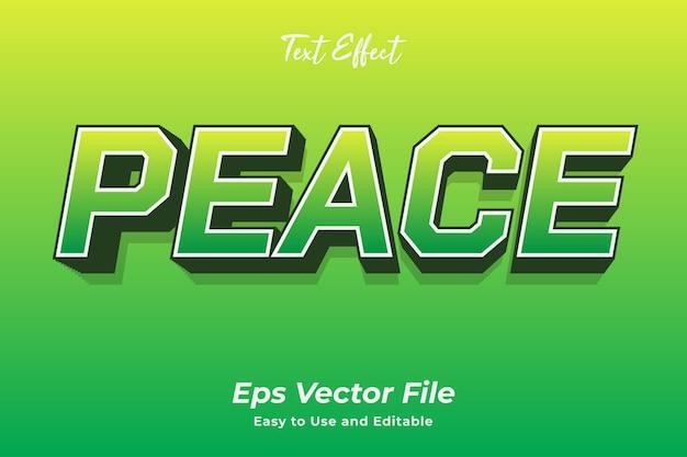 Effetto testo pace modificabile