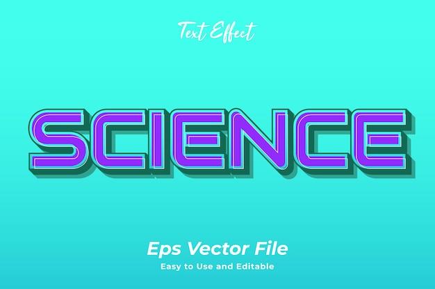 Scienza effetto testo modificabile e facile da usare vettore premium