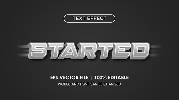 L'effetto del testo è stato modificato in modo molto elegante