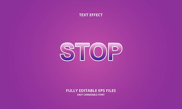 Stop effetto testo