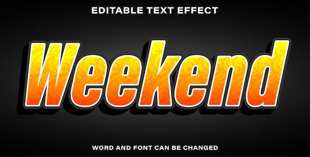 Weekend in stile effetto testo