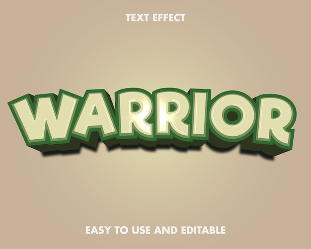 Effetto testo - guerriero. stile carattere modificabile.