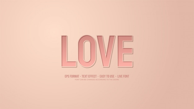 Effetto testo con illustrazioni scritte in rosa con effetti ombra.