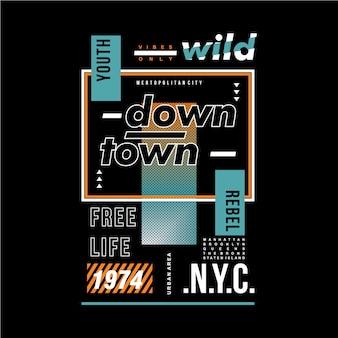 Maglietta di progettazione grafica tipografia telaio testo