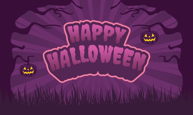 Testo happy halloween con zucche