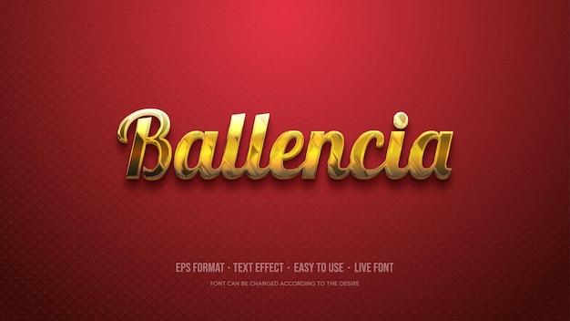 Effetto stile testo con colore oro di lusso su sfondo rosso