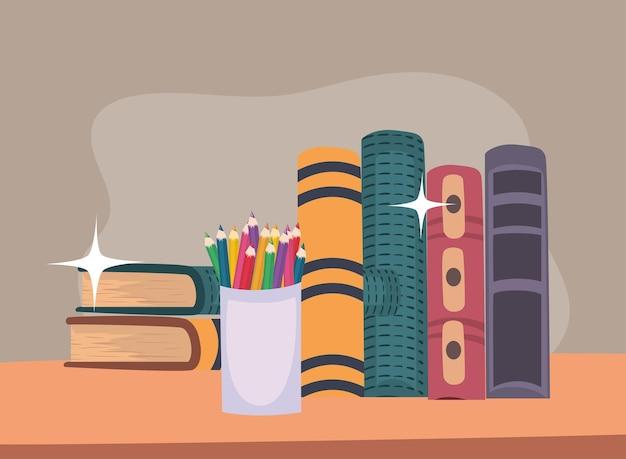 Libri di testo e colori