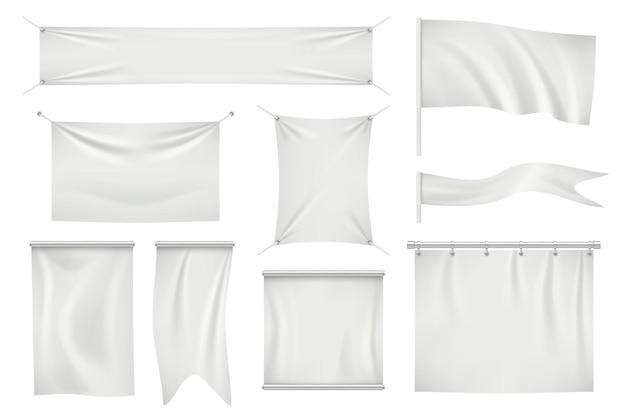 Set di banner e bandiere tessili