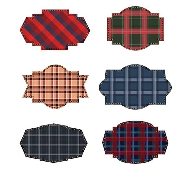 Etichette tessili. tag trama del tessuto