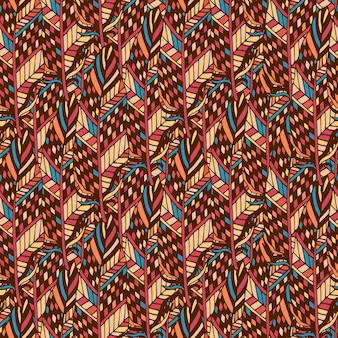 Struttura senza saldatura tessile nei colori etnici. struttura di tessuto etnico in stile boho