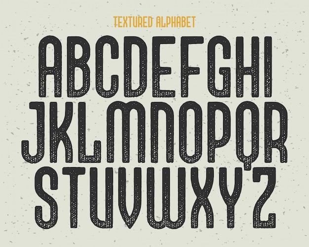 Set di caratteri con texture