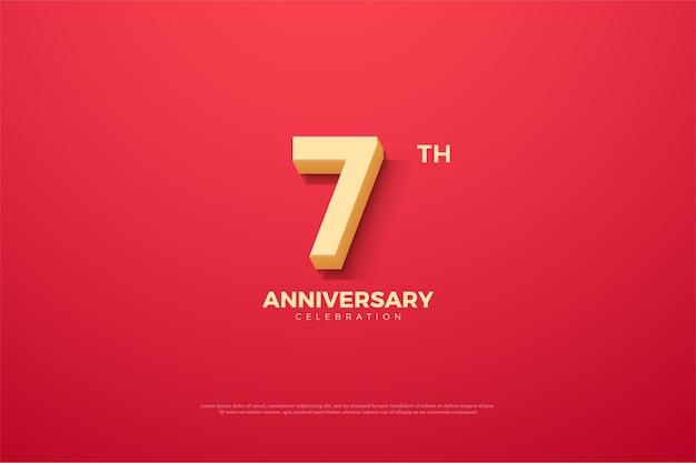 Th anniversario per lo sfondo con i numeri del fumetto