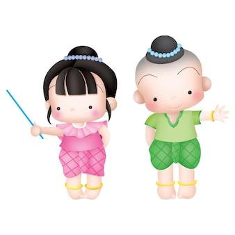 Personaggio dei cartoni animati dei cartoni animati per bambini thailandesi