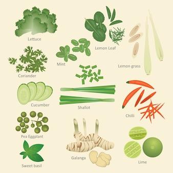 Ingredienti alimentari thailandesi