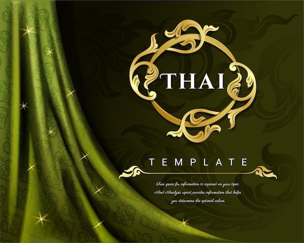 Concerto di lusso tailandese sulla priorità bassa della tenda.
