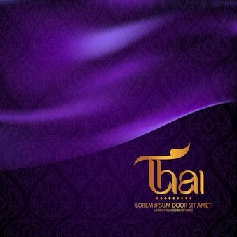 Concetto tradizionale del modello tailandese le arti della tailandia
