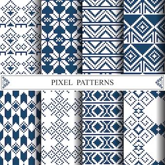 Modello di pixel tailandese per la fabbricazione di tessuti in tessuto