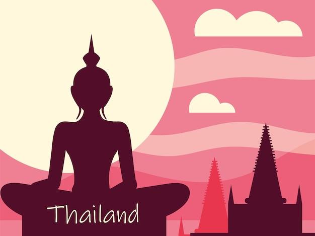 Buddha e tempio thailandese