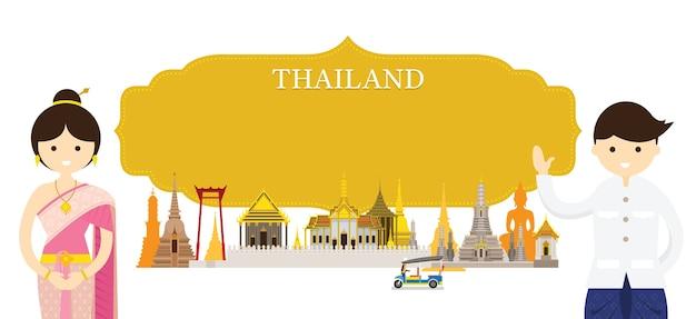 Luoghi d'interesse della thailandia e abbigliamento tradizionale