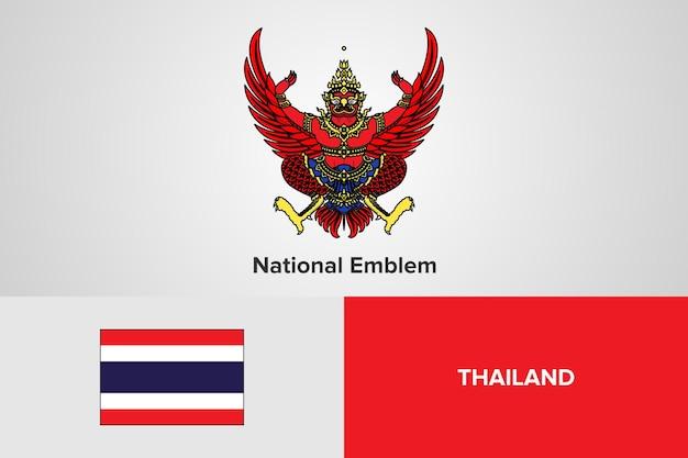 Modello di bandiera nazionale dell'emblema della thailandia