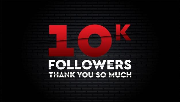 Grazie modello di follower 10k