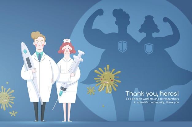 Grazie banner per operatore medico